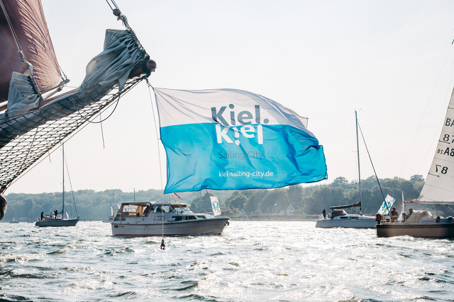 Flagge Kiel.Sailing.City