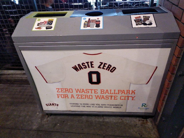 Zero Waste-Müllbehälter in San Francisco