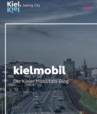 Screenshot des Kielmobil Blog